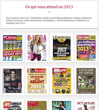 les prévisions des magazines pour 2013