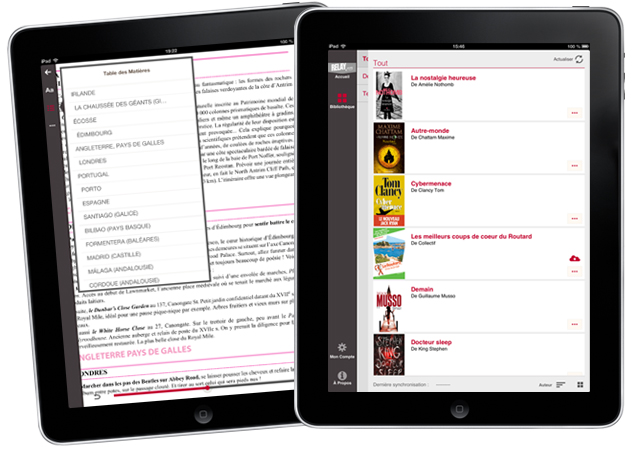 application iPad Librairie Relay.com
