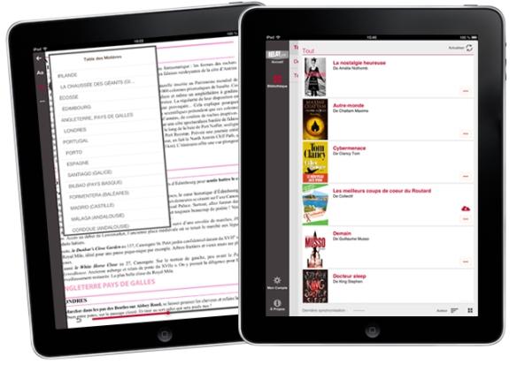 application iPad Librairie Relay.com