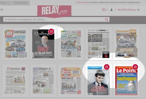 Signalétique des magazines en mode texte