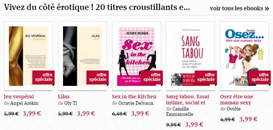 Jusqu'au 5 juin, téléchargez cette sélection d'eBooks érotiques à prix  promo.